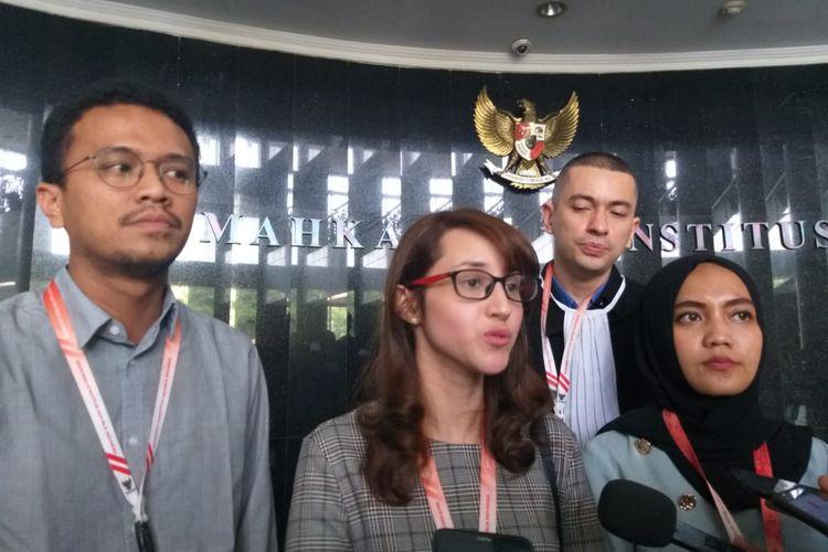 Tsamara Amany hingga Faldo Maldini Jalani Sidang Perdana Uji Materi UU Pilkada di MK, Rabu (16/10/2019).