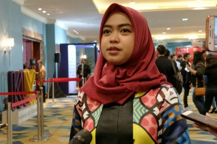 Ria Ricis ditemui sesudah mengisi sebuah acara di Senayan City, Jakarta Pusat, Rabu (25/4/2018).
