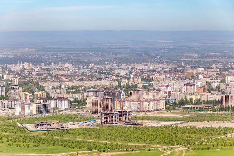 Pemandangan Bishkek, ibu kota Kirgistan.