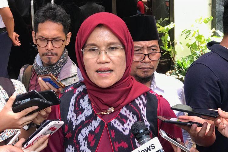 Ketua Komnas Perempuan Azriana Manalu di Kantor Komnas Perempuan, Jakarta Pusat, Senin (19/11/2018).