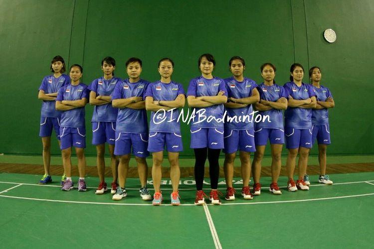 Tim bulu tangkis putri Indonesia yang tampil pada SEA Games 2017.