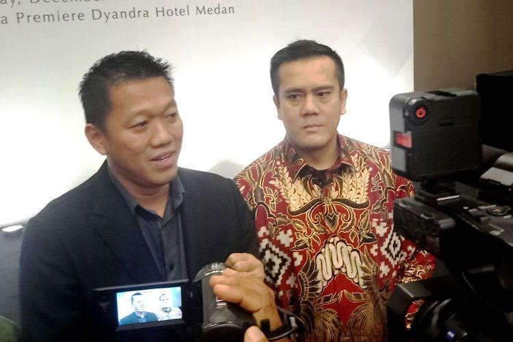 Adi Ming bersama Yamitema Laoly sepakat berkolaborasi bangun Sam City di Kota Medan, Jumat (20/12/2019)