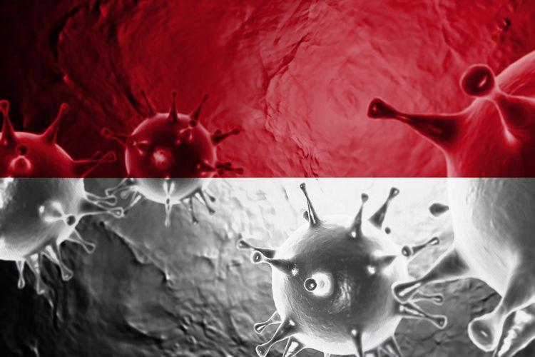 Ilustrasi virus corona, Covid-19 di Indonesia
