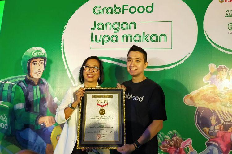 Pengantaran 10.000 makanan yang dilakukan oleh mitra GrabFood di lima kota di Indoensia berhasil memecahkan Museum Rekor Dunia Indonesia (MURI).