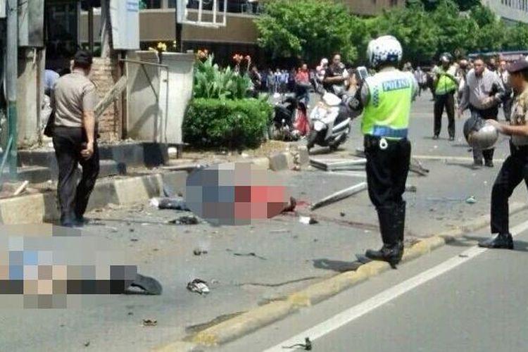 Korban ledakan di Sarinah, Kamis (14/1/2016).