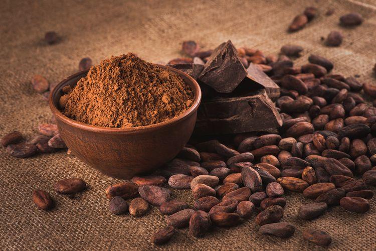 Biji kakao, bubuk kakao, dan cokelat batang