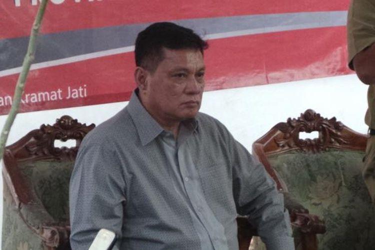 Anggota Komisi E DPRD DKI Jakarta H. E. Syahrial, di acara buka puasa bersama DPC PDI-P di Cililitan, Jakarta Timur, Selasa (21/6/2016).