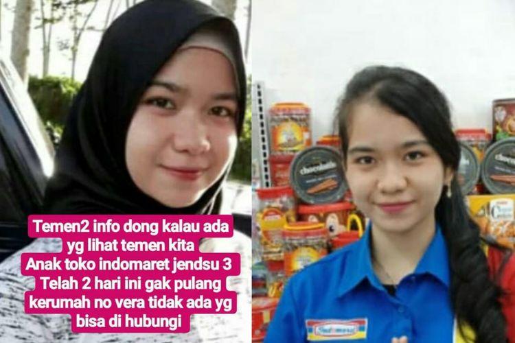 Foto semasa hidup Fera Oktaria (21)ditemukan tewas di kamar penginapan Sahabat Mulya Jalan Simpang Hindoli,Kecamatan Sungai Lilin, Musi Banyuasin, Sumatera Selatan, pada Jumat (10/5/2019).