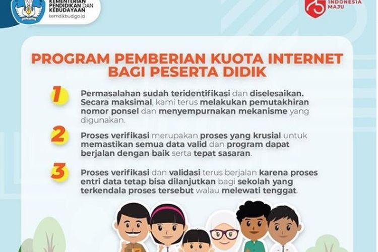 Program Pemberian Kuota Internet bagi Peserta Didik