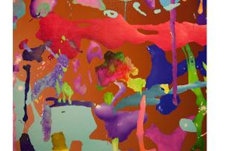 Terinspirasi dari sperma, Faith Holland ciptakan lukisan yang tidak biasa