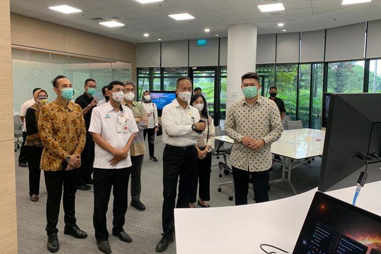 Menteri Perindustrian, Agus Gumiwang Kartasasmita mengunjungi Apple Developer Academy di BSD City pada Kamis (23/7).