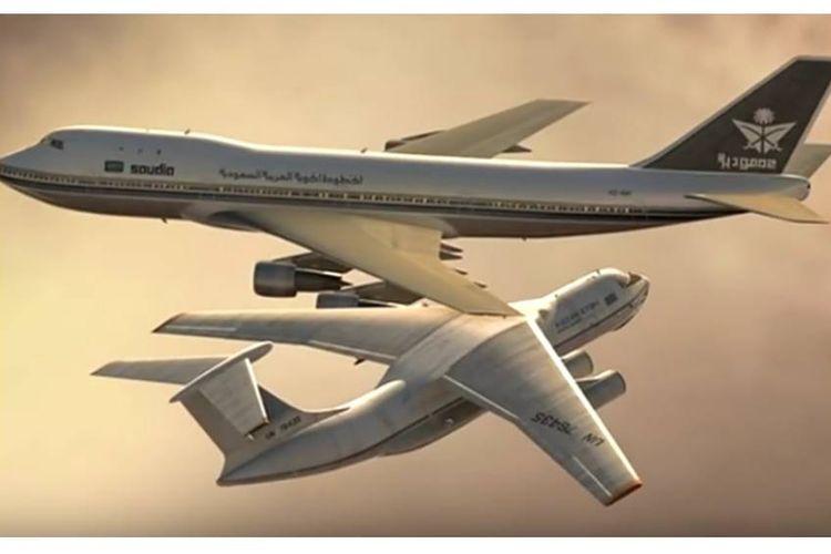 Ilustrasi tabrakan Saudi Arabian Airlines dan Kazakhstan Airlines