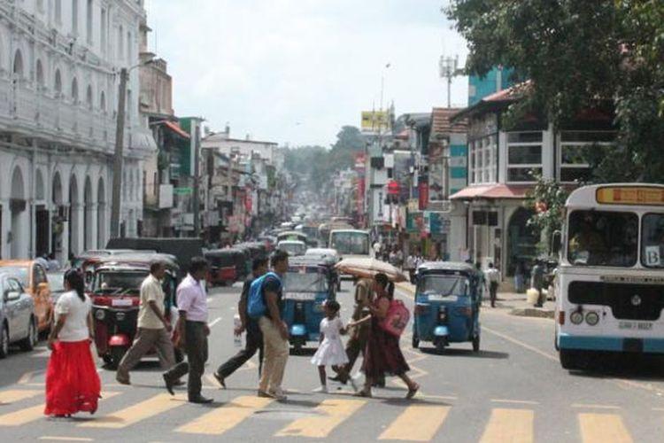 Suasana Kota Kandy di Sri Lanka.