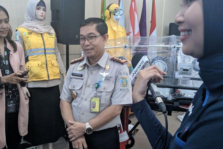 Kepala Kantor Kesehatan Pelabuhan (KKP) Bandara Soekarno-Hatta Anas Maruf saat ditemui di KKP Bandara Soekarno-Hatta Senin (27/1/2020)