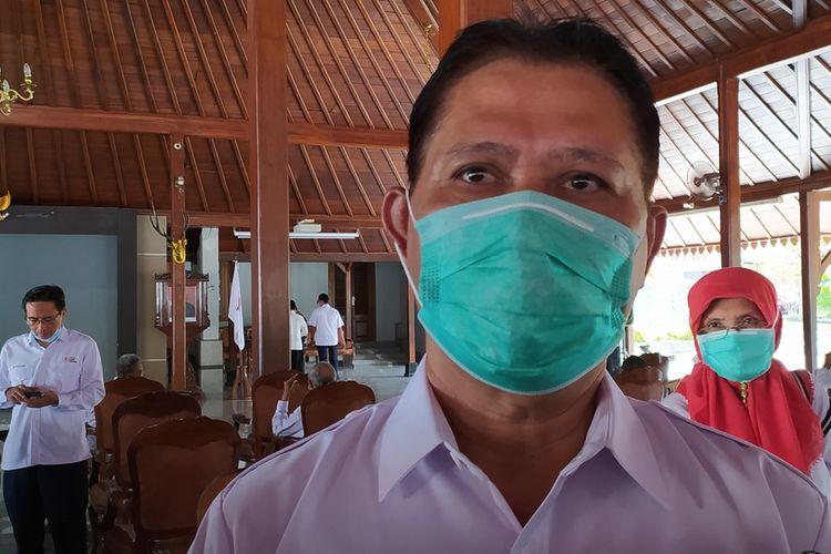 Kepala Dinkes Banyumas Sadiyanto di Pendapa Sipanji Purwokerto, Kabupaten Banyumas, Jawa Tengah, Sabtu (20/3/2021).