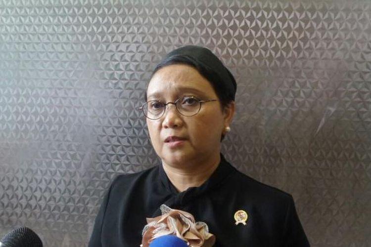 Menteri Luar Negeri Retno Marsudi di Kompleks Parlemen, Senayan, Jakarta, Rabu (31/8/2016)