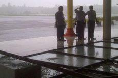 Gara-gara Angin Kencang, Dinding Kaca Ruang Tunggu Bandara Pecah