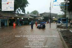Hujan Deras dan Angin Kencang di Jakarta Timur, Jalan Raya Jambore Banjir