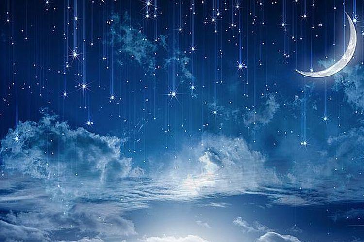 Ilustrasi langit pada bulan terakhir Ramadhan