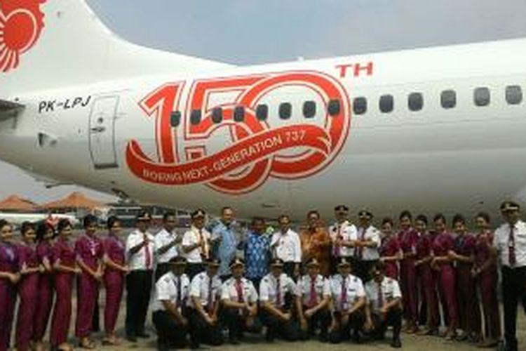Pesawat Boeing 737-800NG ke-150 yang dipesan oleh Lion Air