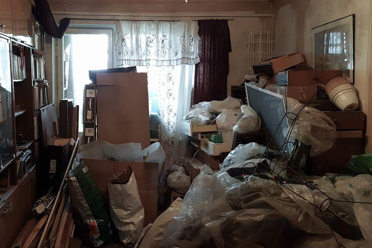 Timbunan barang dari penderita Hoarding Disorder