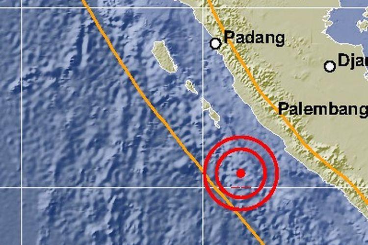 Gempa M 5,9 Guncang Bengkulu pada 05.23 WIB, Selasa (15/10/2019).