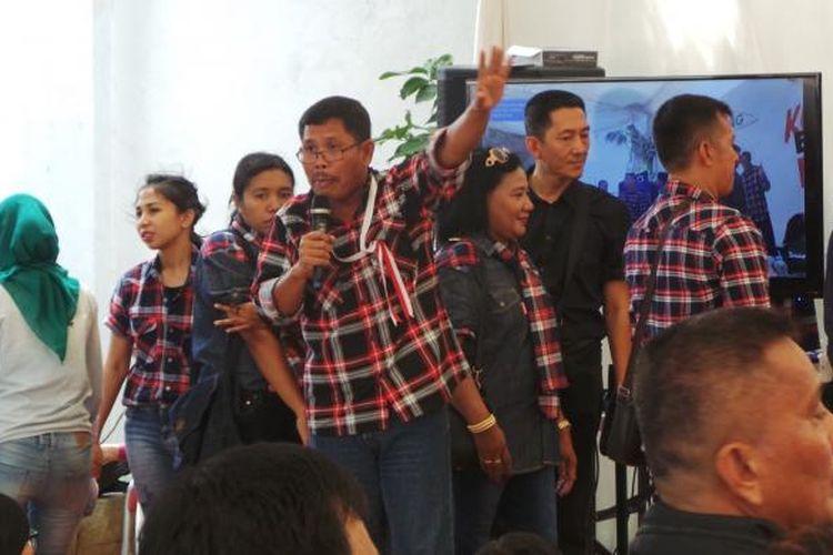 Mantan Komisioner KPU RI yang juga anggota tim pemenangan Ahok-Djarot, I Gusti Putu Artha, di Rumah Lembang, Kamis (8/12/2016).