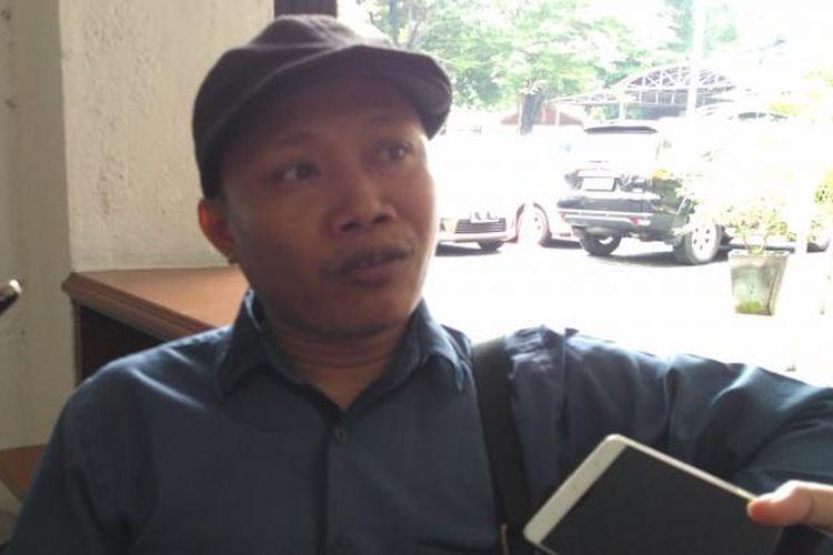 Deputi Nasional Jaringan Pendidikan Pemilih untuk Rakyat (JPPR) Sunanto di gedung KPU, Jakarta, Jumat (10/2/2017)