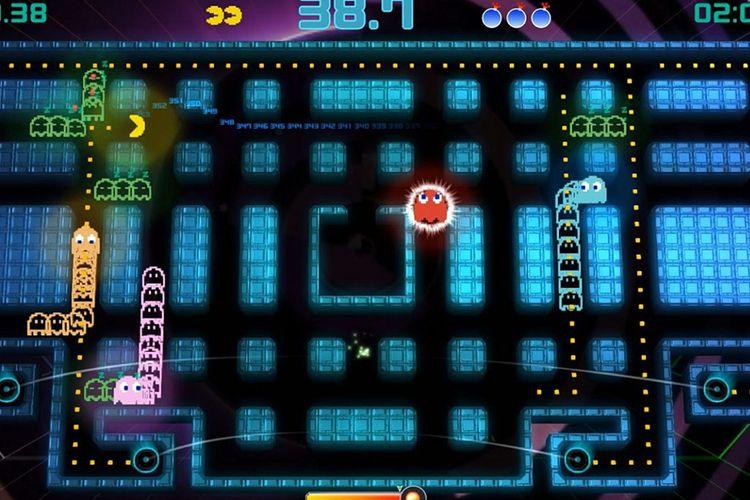 Ilustrasi game Pac-Man Championship Edition 2