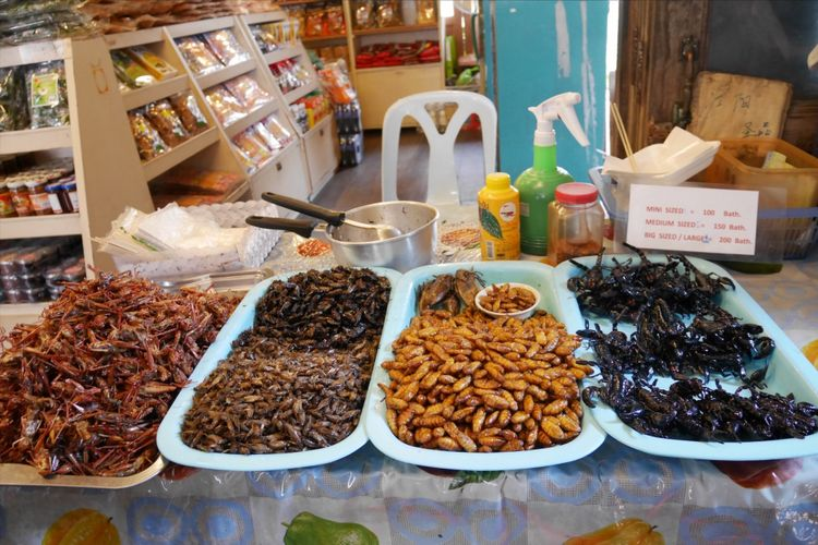 Aneka kuliner yang ada di Floating Market, Pattaya, Thailand, Senin (5/2/2018).