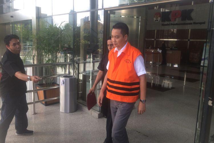 Anggota DPR dari Fraksi Partai Golkar Fayakhun Andriadi Usai Diperiksa Penyidik KPK, Kamis (21/6/2018).