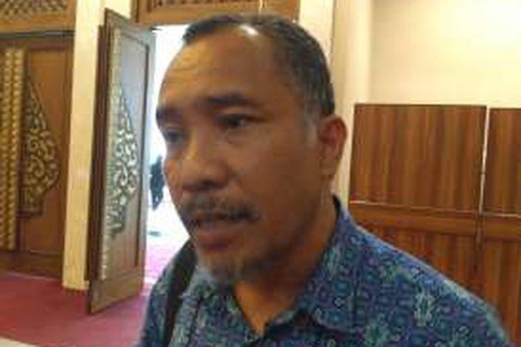 Koordinator Desk Kebebasan Beragama dan Berkeyakinan (KBB) Komnas HAM, Jayadi Damanik di kawasan Gatot Subroto, Jakarta, Kamis (5/1/2016)