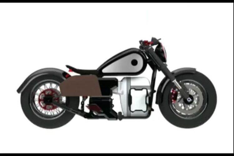 Motor listrik konsep Gesits RKG-72 yang didesain oleh Ridwan Kamil