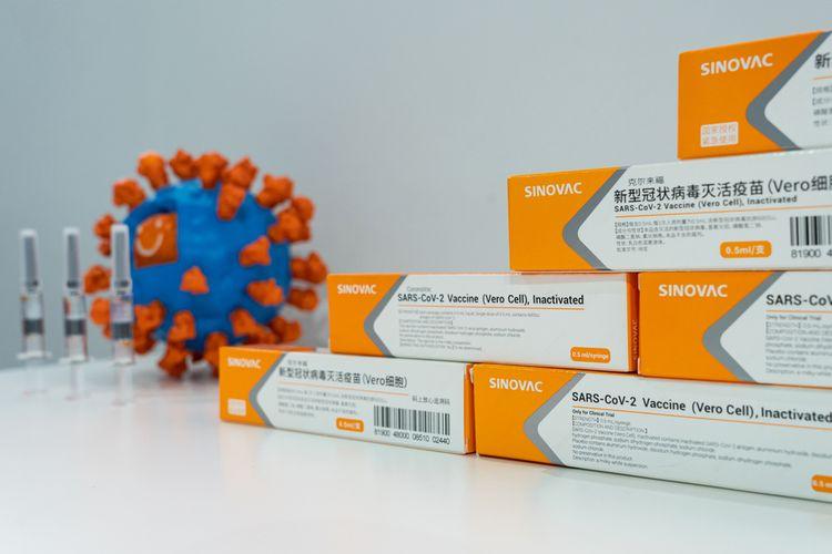 Ilustrasi vaksin Sinovac, CoronaVac.