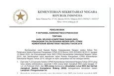 Hasil SKD CPNS Kemensetneg 2019 Diumumkan, Ini Informasinya...