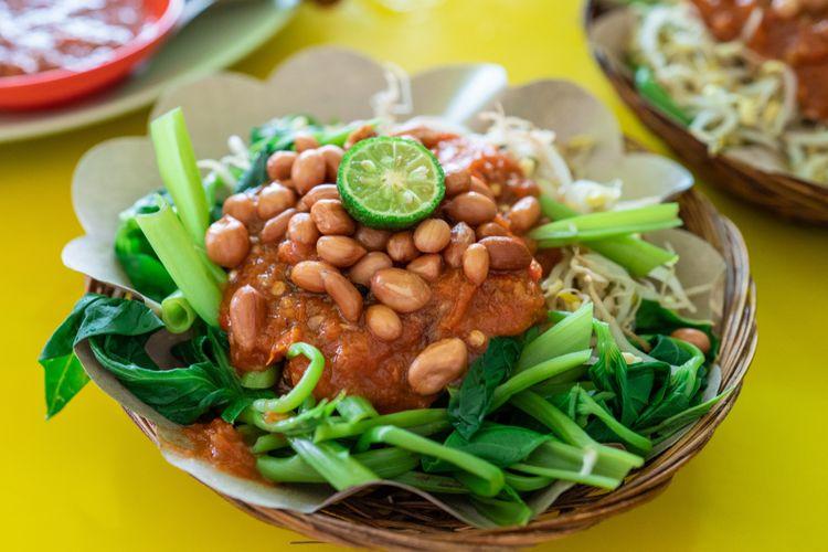 Ilustrasi plecing kangkung lombok.
