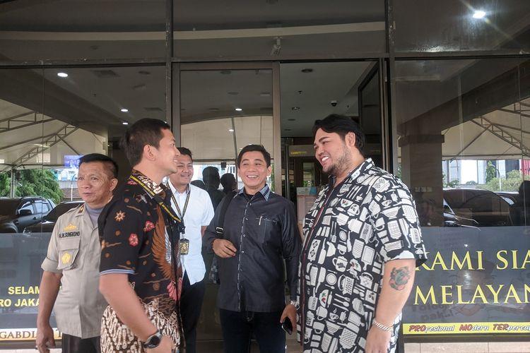 Ivan Gunawan diperiksa di Polres Metro Jakarta Utara, Jumat (6/12/2019)