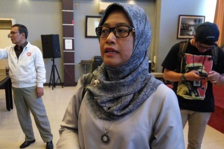 Ketua Bawaslu DKI Mimah Susanti saat di kawasan Menteng, Jakarta Pusat, Sabtu (18/2/2017).