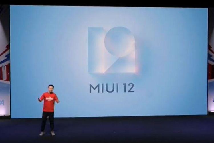 Country Director Xiaomi Indonesia, Alvin Tse, mengumumkan MIUI 12 di Indonesia.