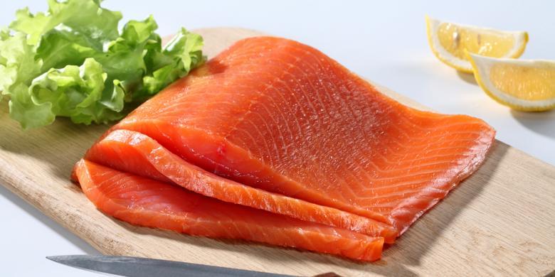 Hasil gambar untuk daging salmon