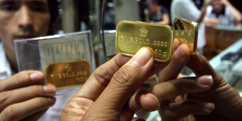 Turun Lagi Harga Emas Antam Hari Ini Rp 592 000 Per Gram Kompas Com