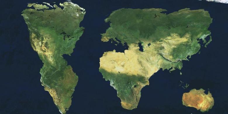 Inilah Wilayah Indonesia Bayangan Pelajar Amerika Kompas Gambar Peta Benua