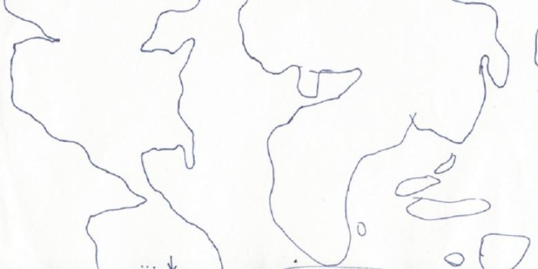 Inilah Wilayah Indonesia Bayangan Pelajar Amerika Kompas Gambar Peta Pulau