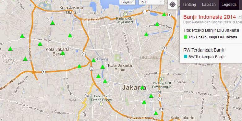 Peta resmi google sajikan titik banjir jakarta kompas peta resmi google sajikan titik banjir jakarta publicscrutiny Image collections