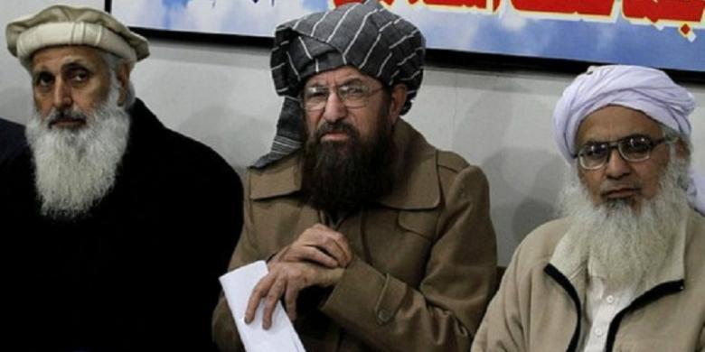 Hasil gambar untuk delegasi taliban dalam perundingan damai dengan as