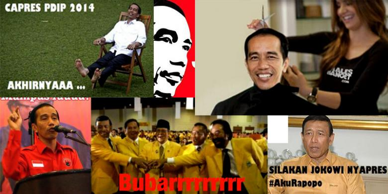 Jokowi Capres Foto Guyonan Beredar di Media Sosial