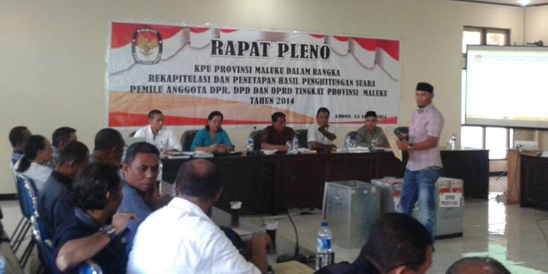 Pleno Jarak Jauh Kpu Maluku Bikin Berita Acara Kejadian Khusus