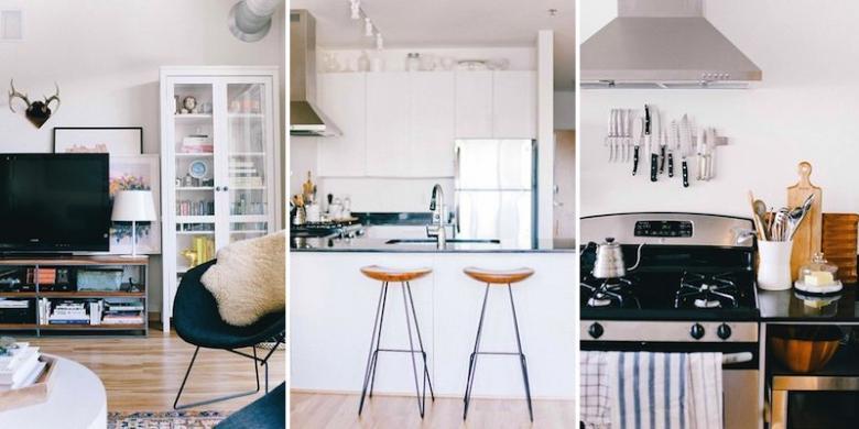Area Dapur Dan Ruang Keluarga Yang Mudah Diakses Seluruh Anggota Secara Konsisten Masih Memiliki Tampilan Segar Dengan Aksen Kayu