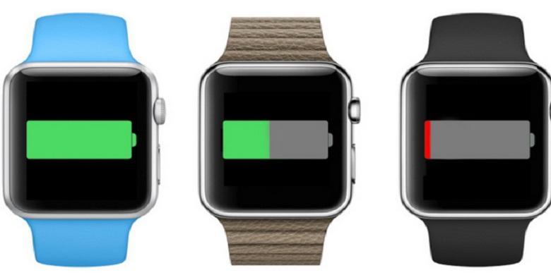 Tampilan Baterai Pada Apple Watch