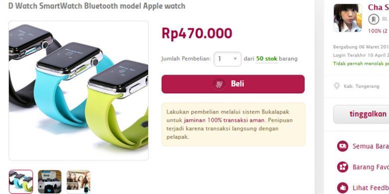 Kembaran Apple Watch Dibanderol Rp 470000 Di Indonesia